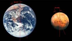 porovnanie rozmerov Zeme a Marsu