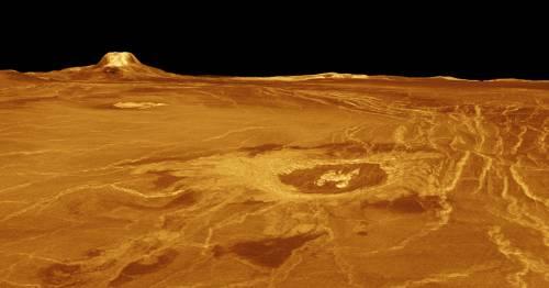 model povrchu podľa radarových meraní sondy Magellan